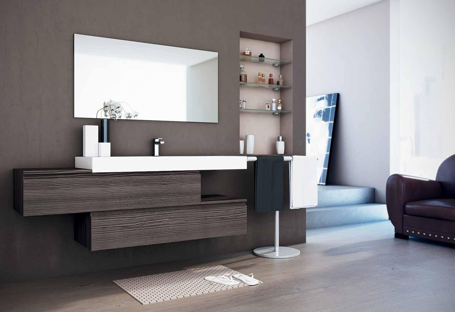 Muebles de ba o para cuartos de ba o elegantes y modernos for Cuarto bano moderno
