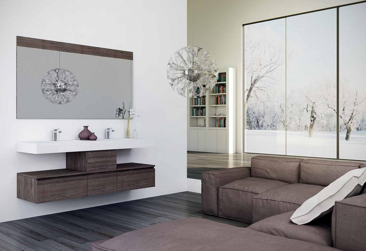Muebles de ba o para cuartos de ba o modernos for Cuartos de bano modernos