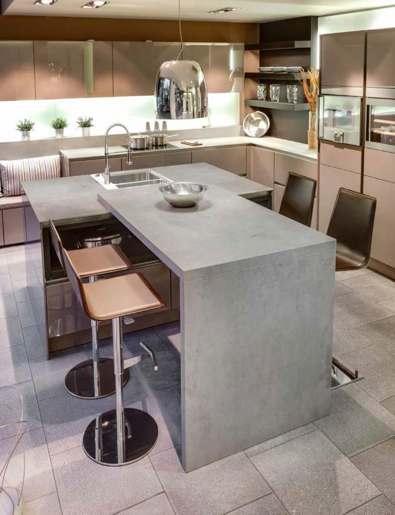 Encimera beton silk 12 mm muebles de cocina para cocinas modernas y cocinas rusticas - Encimeras rusticas ...