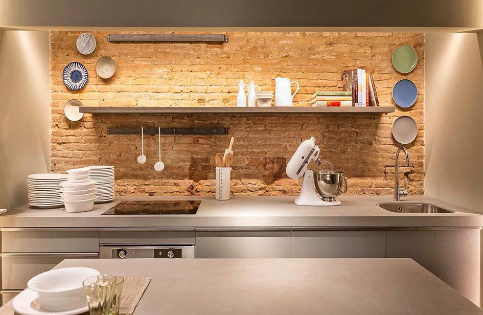 Encimera y mesa barro satin 12 mm muebles de cocina - Mesas para cocinas modernas ...