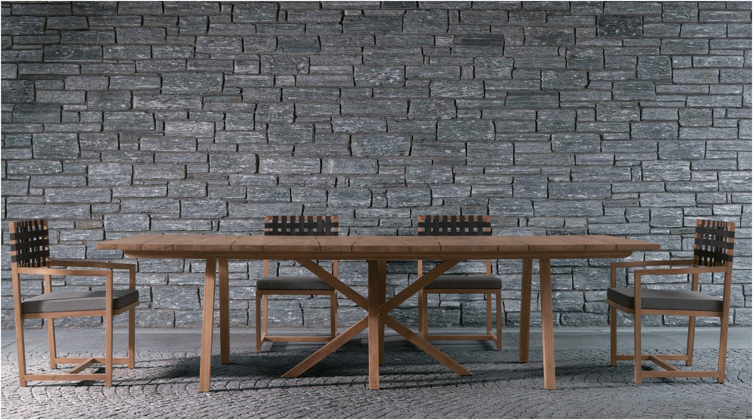 Mesa exterior en madera de teka