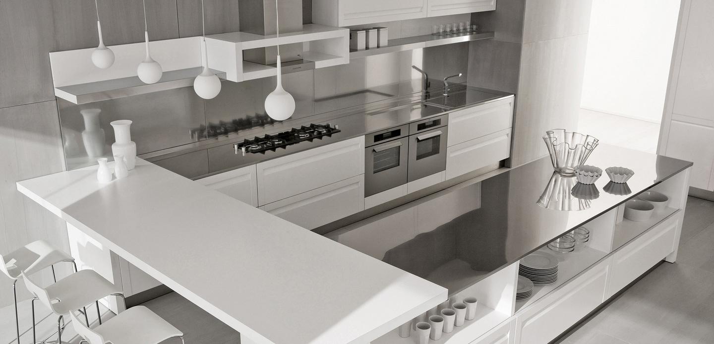 Cocinas modernas. Tendencias en diseño de cocinas 2017. Acero inoxidable